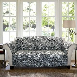 Lush Decor Aubree Sofa Black/ White Furniture Protector Slipcover