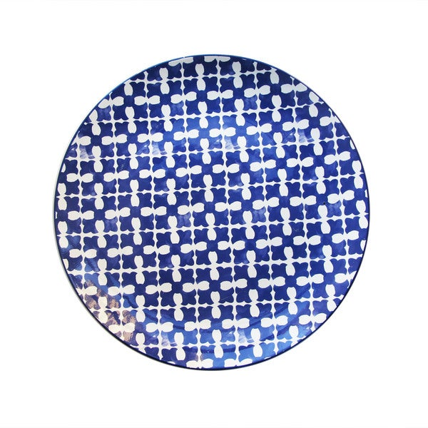 Medallion Squares Blue Serving Platter