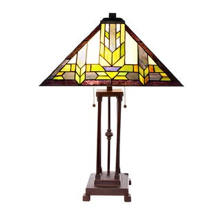 Stained Glass Mission Style Santa Fe Table Lamp