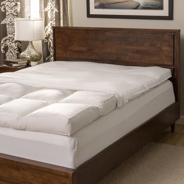 Super Snooze 5-inch 230 Thread Count Baffled Featherbed Full Set (As Is Item)
