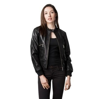 Wilda Women's Janice Black Leather Jacket