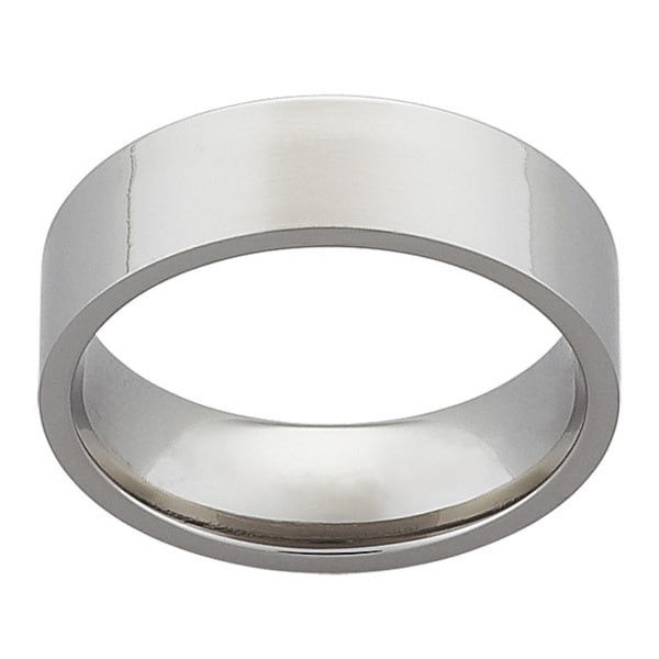 Titanium 7mm Flat Wedding Band