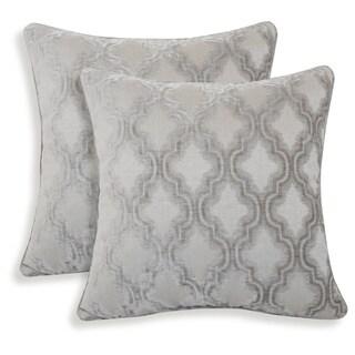 Darissa Velvet Geometric 20-inch Toss Pillow (Set of 2)