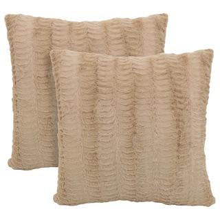 Dover Fur 20-inch Toss Pillow (Set of 2)