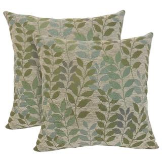 Fabian Chenille Leaf 20-inch Toss Pillow (Set of 2)