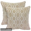 Gemma Chenille Geometri c20-inch Toss Pillow (Set of 2)