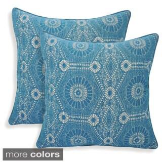 Heston Chenille Medallion 20-inch Toss Pillow (Set of 2)