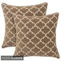 Sandglass Chenille Geometric 20-inch Toss Pillow (Set of 2)