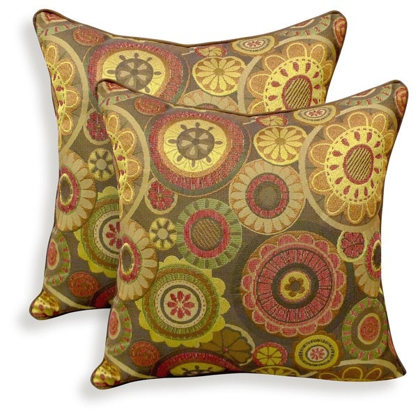 Scarlett Woven Jacquard 20-inch Toss Pillow (Set of 2)