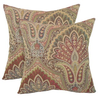 Velora Woven Paisley 18-inch Toss Pillow (Set of 2)