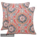 Tamariz Printed Medallion 20-inch Toss Pillow (Set of 2)