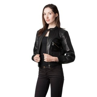 Wilda Women's Jamie Black Leather Jacket
