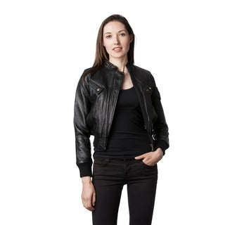 Wilda Women's Rocha Black Leather Jacket