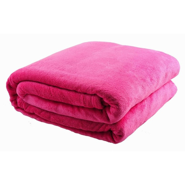 HS Coral Fleece All-seasons Plush Throw Blanket (King/Pink)(As Is Item)