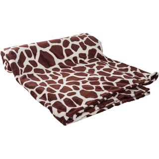 HS Coral Animal Print Plush Throw Blanket