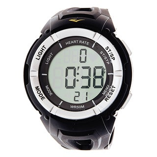 Everlast HR3 B Heart Rate Monitor Digital Sport Black Black Watch