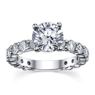 14k White Gold 3 5/8ct TDW Diamond Engagement Ring (G-H, SI1-SI2)