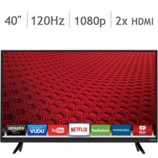 Vizio E40-C2 40-inch 1080p 120Hz Smart Wi-Fi LED HDTV (Refurbished)