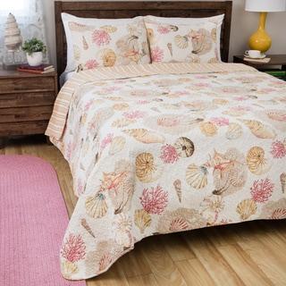 Greenland Home Fashions Castaway Cotton 3-piece Quilt Set