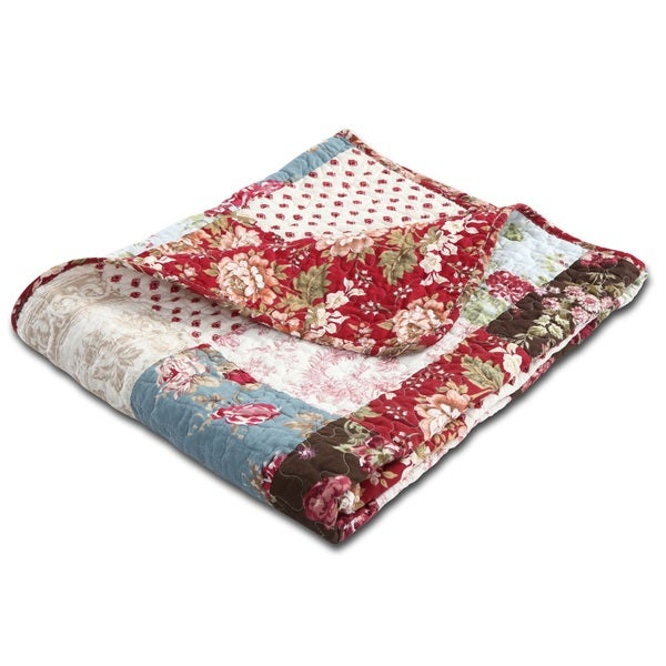 Greenland Home Fashions Natasha Cotton Quilted Throw