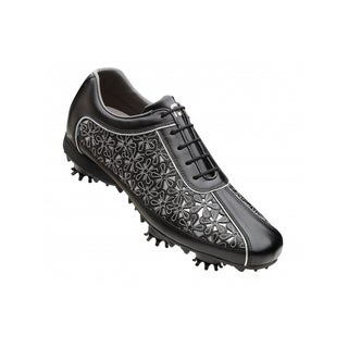 FootJoy Ladies LoPro Collection 97071 Black/ Silver Golf Shoes