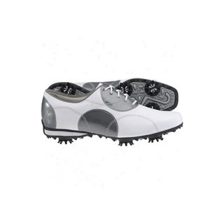 FootJoy Womens LoPro Collection 97075 White and Silver Golf Shoes
