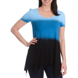 Chelsea & Theodore Women's Dip Dye Sharkbite Tunic