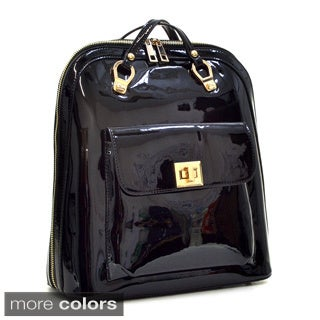 Dasein Sleek Patent Zip-Around Backpack