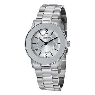 Stuhrling Original Men's Ascot Elite Swiss Quartz Stainless Steel Bracelet Watch