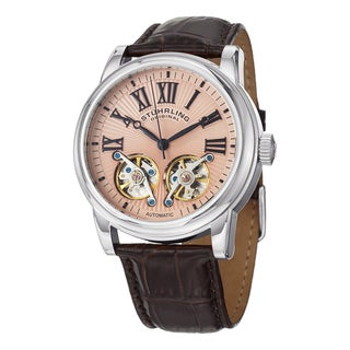 Stuhrling Original Men's Legacy Skeletonized Automatic Leather Strap Watch
