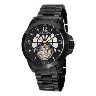 Stuhrling Original Men's Specter Tourbillon Skeletonized Mechanical Ceramic Bracelet Watch