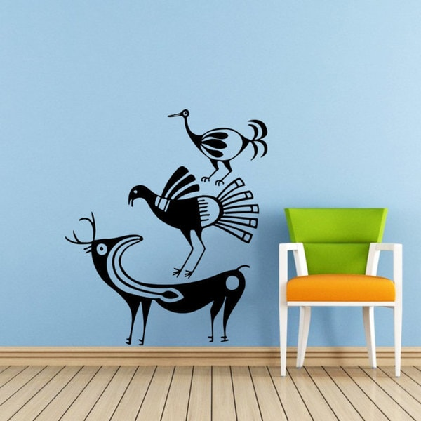 Aztec Animals Vinyl Sticker Wall Art