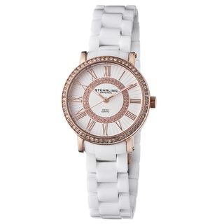Stuhrling Original Women's Orchestra Swiss Quartz Austrian Crystal Ceramic Bracelet Watch