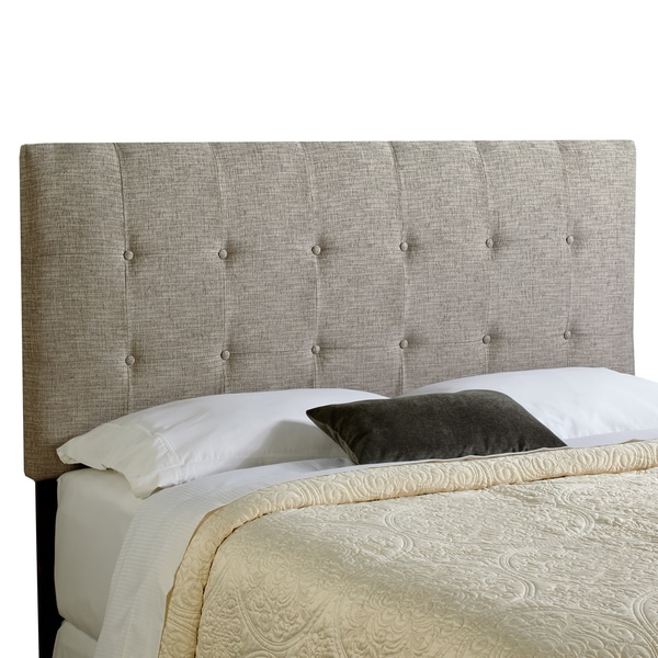 Humble + Haute Stratton Ash Grey Upholstered Tufted Headboard - Full Size