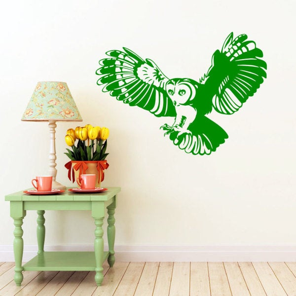 Flying Owl Vinyl Wall Art