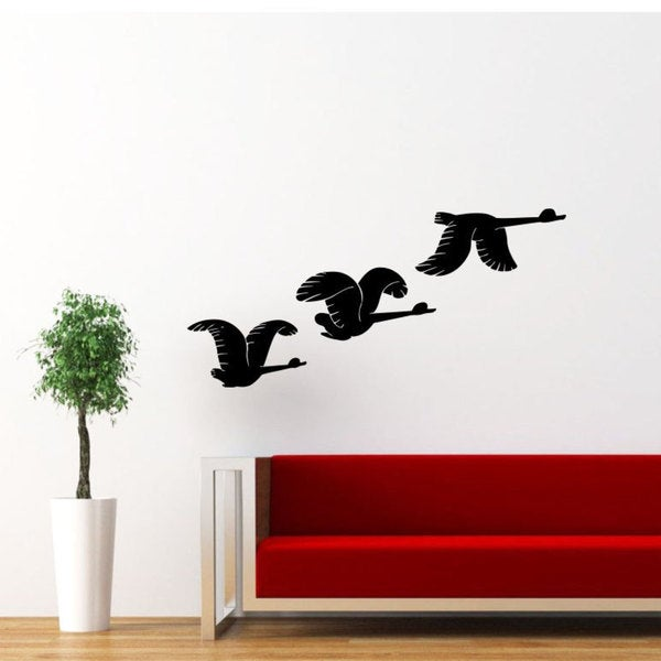 Flying Ducks Vinyl Wall Art