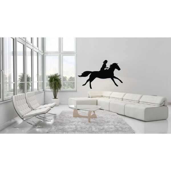 Horse Back Riding Vinyl Sticker Wall Art