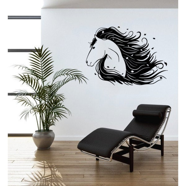 Horse Head Vinyl Sticker Art