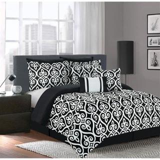 Hamilton Black/White 7-piece Comforter Set