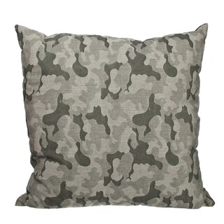 Green Camo Jacquard 18-inch Throw Pillow