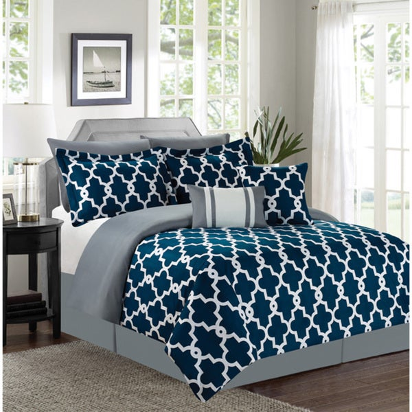 Ryder Navy 7-piece Comforter Set