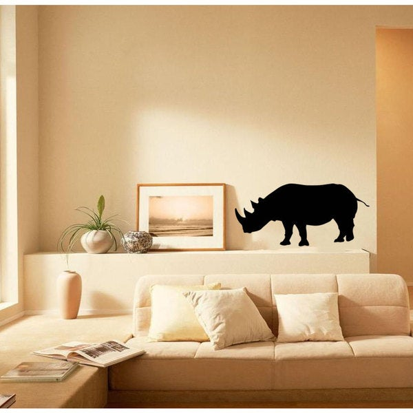 Rhino Vinyl Wall Art