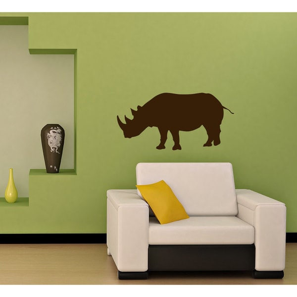 Rhinoceros Vinyl Sticker Wall Art