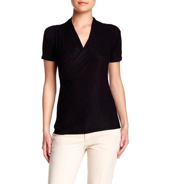 Von Ronen Women's Crossover Rayon Jersey Wrap Top