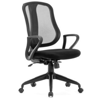 idee Deluxe Mid-back Mesh Task Chair, Black, MLC13B