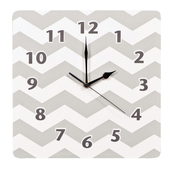 Trend Lab Dove Grey Chevron Wall Clock