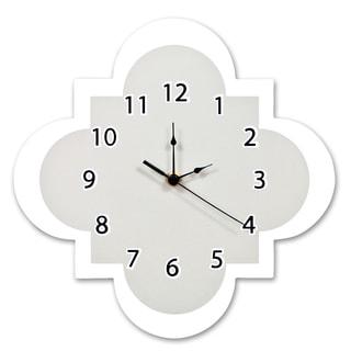 Trend Lab Grey Quatrefoil Wall Clock