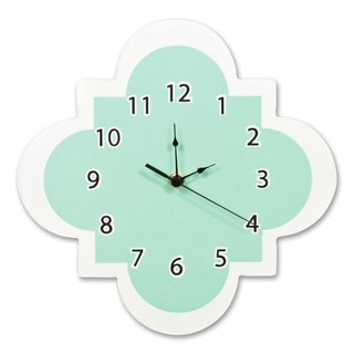 Trend Lab Mint Quatrefoil Wall Clock