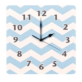 Trend Lab Blue Sky Chevron Wall Clock