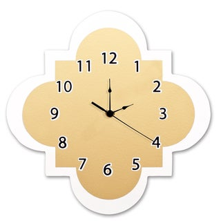 Trend Lab Gold Quatrefoil Wall Clock